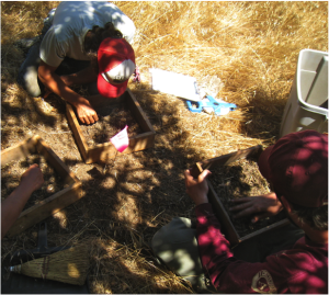 AMLT Native Stewardship Corps conducting an archaeological surveys at Cañada de los Osos. Photo courtesy Sara French