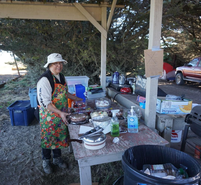 Eleanor Castro (AMTB elder and scholar) hard at work in the summer field camp. Photo courtesy Kent Lightfoot.