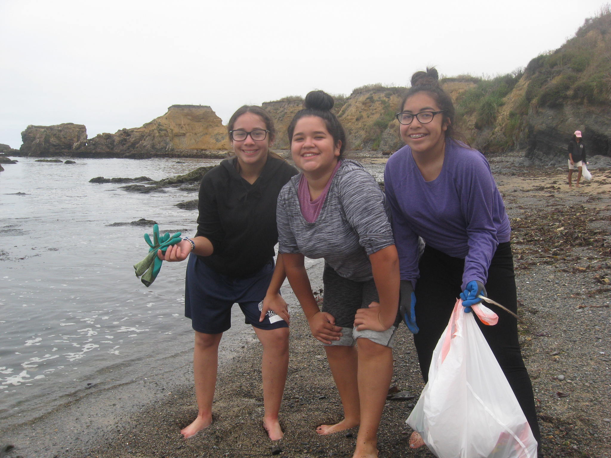 Campers removed trash from one mile of beach during a coastal cleanup day. Photo courtesy Jay Scherf.